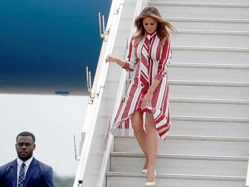 First Lady Melania Trump arrives in Ghana ahead of Kenya visit