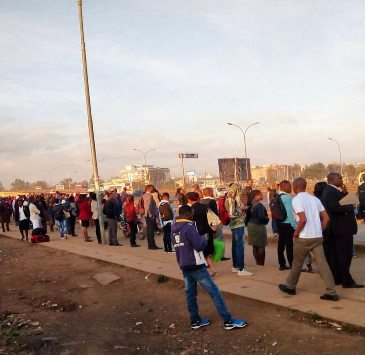 Nairobi commuters stranded as matatu operators protest return of 'Michuki rules'