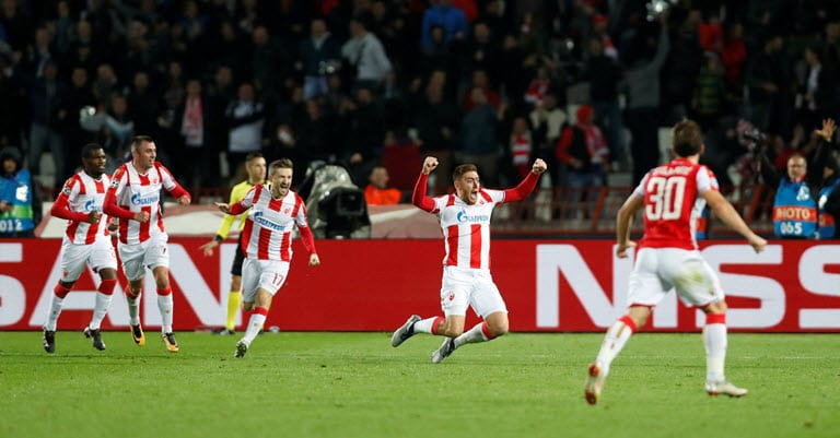 Pavkov double gives Red Star shock win over Liverpool