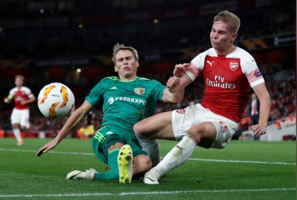 Arsenal's Europa clash with Vorskla in doubt