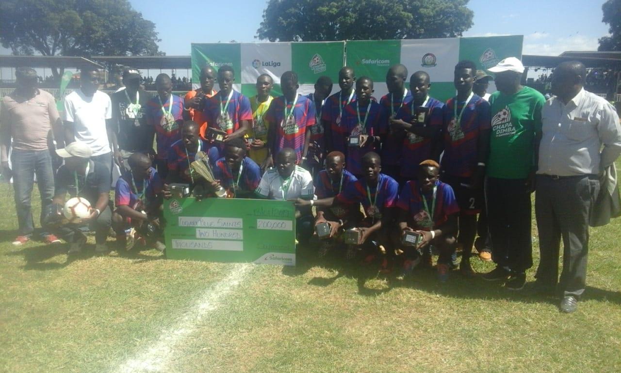 Saints, Bishop Njenga crowned Chapa Dimba Western region champs