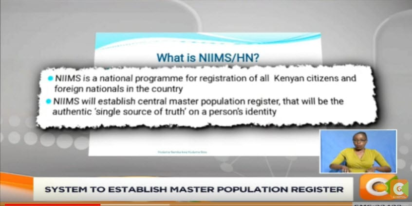No birth certificate, ID, Passport for those not registered in NIIMS