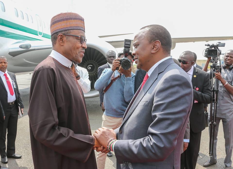 President Kenyatta congratulates Buhari on his re-election