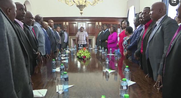 President Kenyatta hosts Kajiado leaders, urges them to shun divisive politics