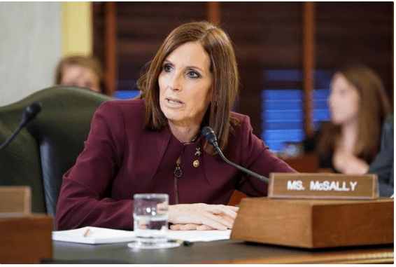 Senator McSally, an Air Force veteran, says she was raped by a superior officer