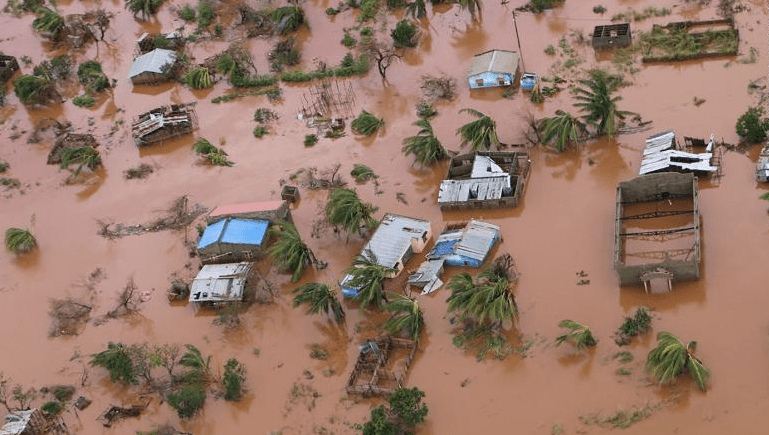 Harrowing scenes after Cyclone Idai with inland ocean visible from outer space