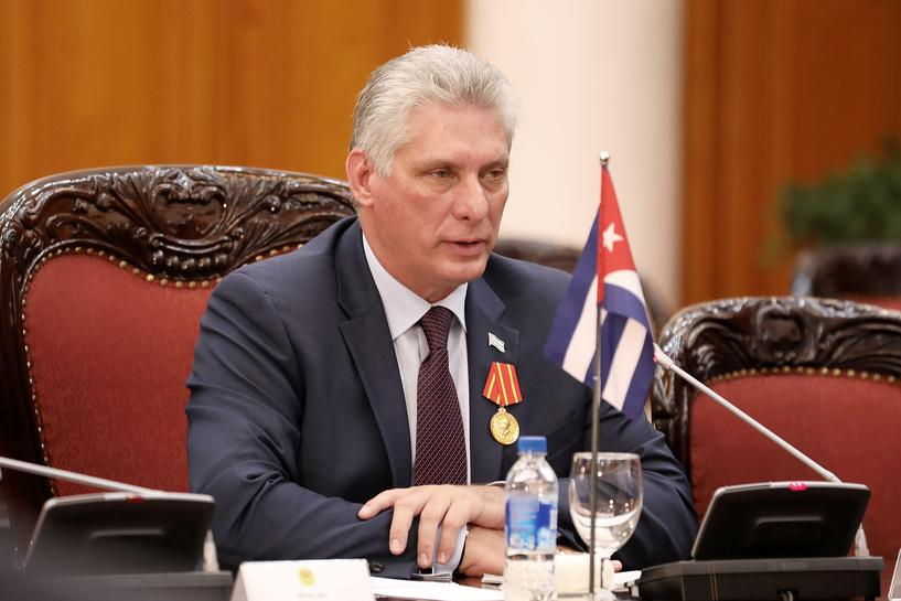 Cuban president calls for strengthened defenses, economy in response to Trump threats