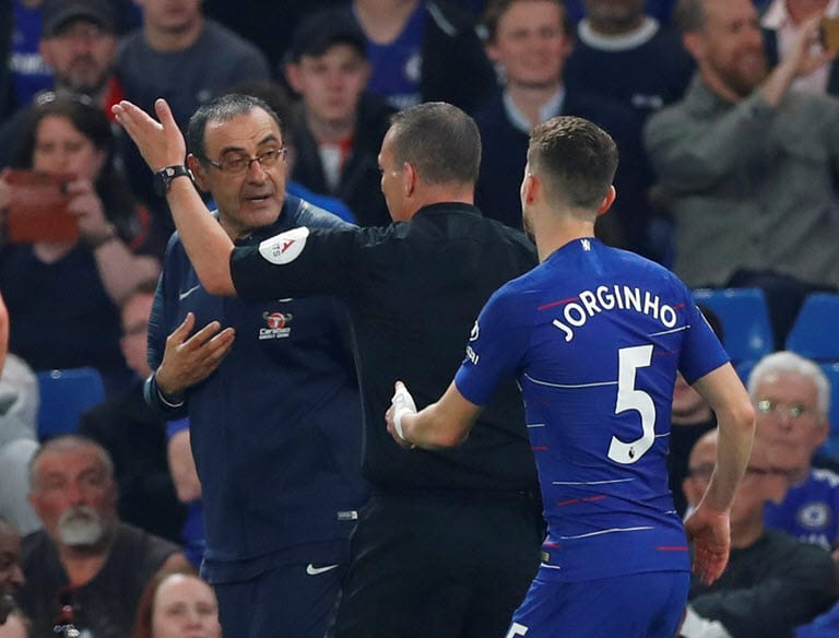 Chelsea coach Sarri charged with misconduct