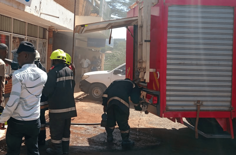 Fire scare at Barclays Bank in Muranga town
