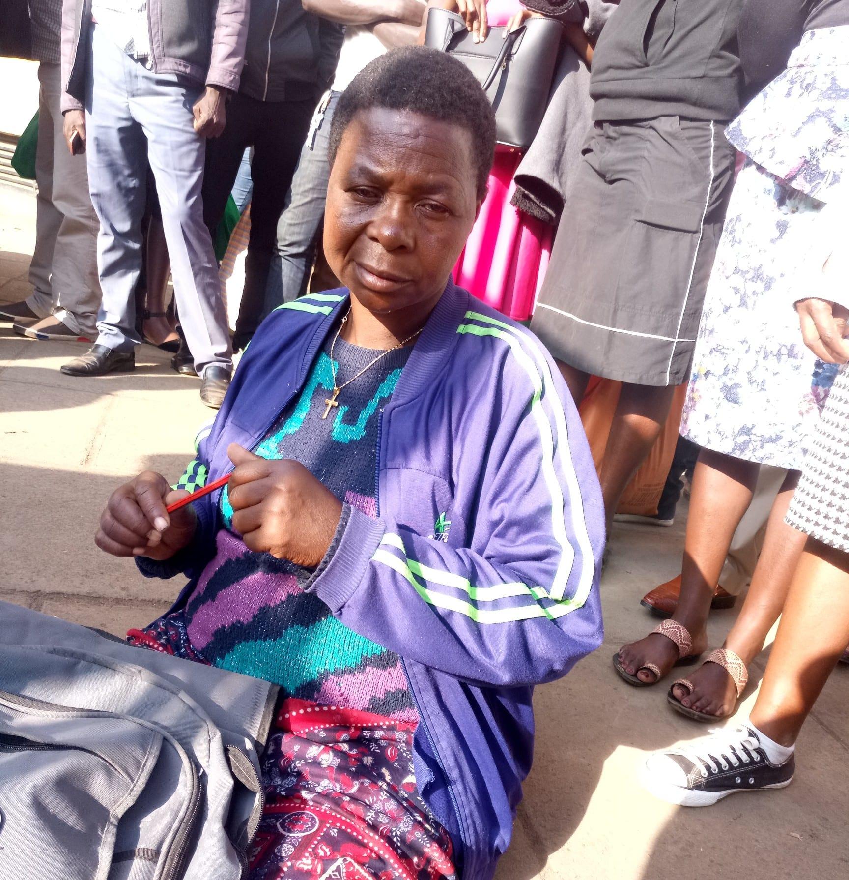 Cecilia Nambuya during the interview. PHOTO/DIANA MADEGWA