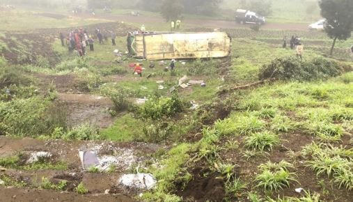 One dead, over 20 others injured in Nairobi-Naivasha Highway accident