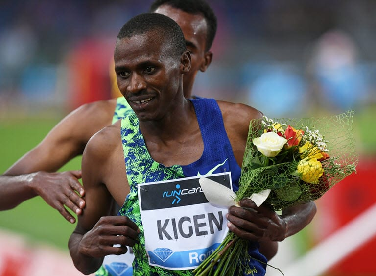 Kigen holds off Ethiopian duo for Rome victory