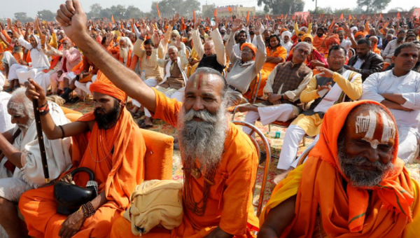 Hindu monks push government to help build temple on disputed Indian site