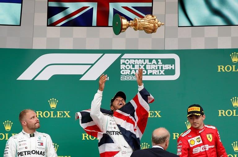Hamilton wins record sixth British GP