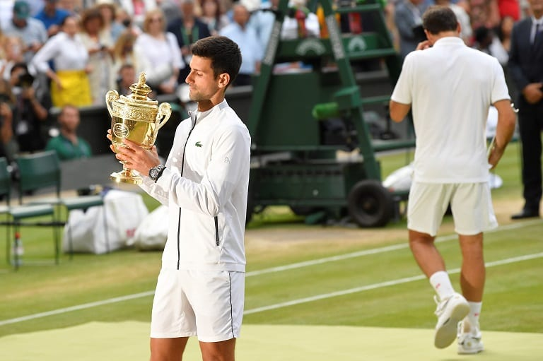 Djokovic beats Federer in historic Wimbledon final