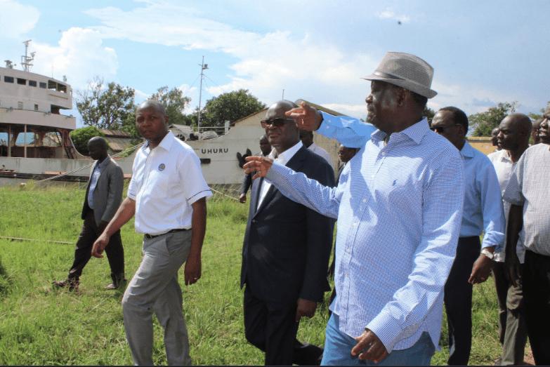 Raila Odinga tours Kisumu port ahead of August opening