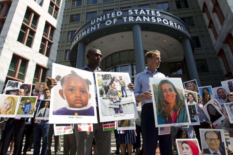 Families of Boeing 737 MAX crash victims protest in D.C.