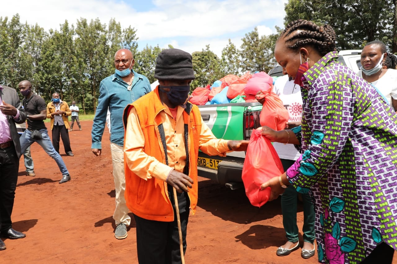 Covid-19: Governor Waiguru launches food distribution for vulnerable families