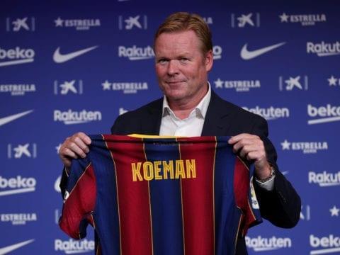Koeman sent off as Barca draws