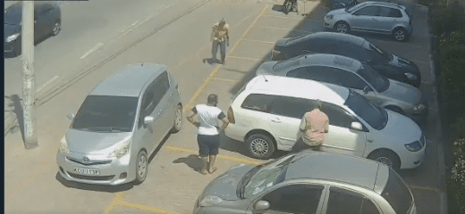 Boris Mutua, one of the suspects caught on video breaking into a car arrested in Mombasa