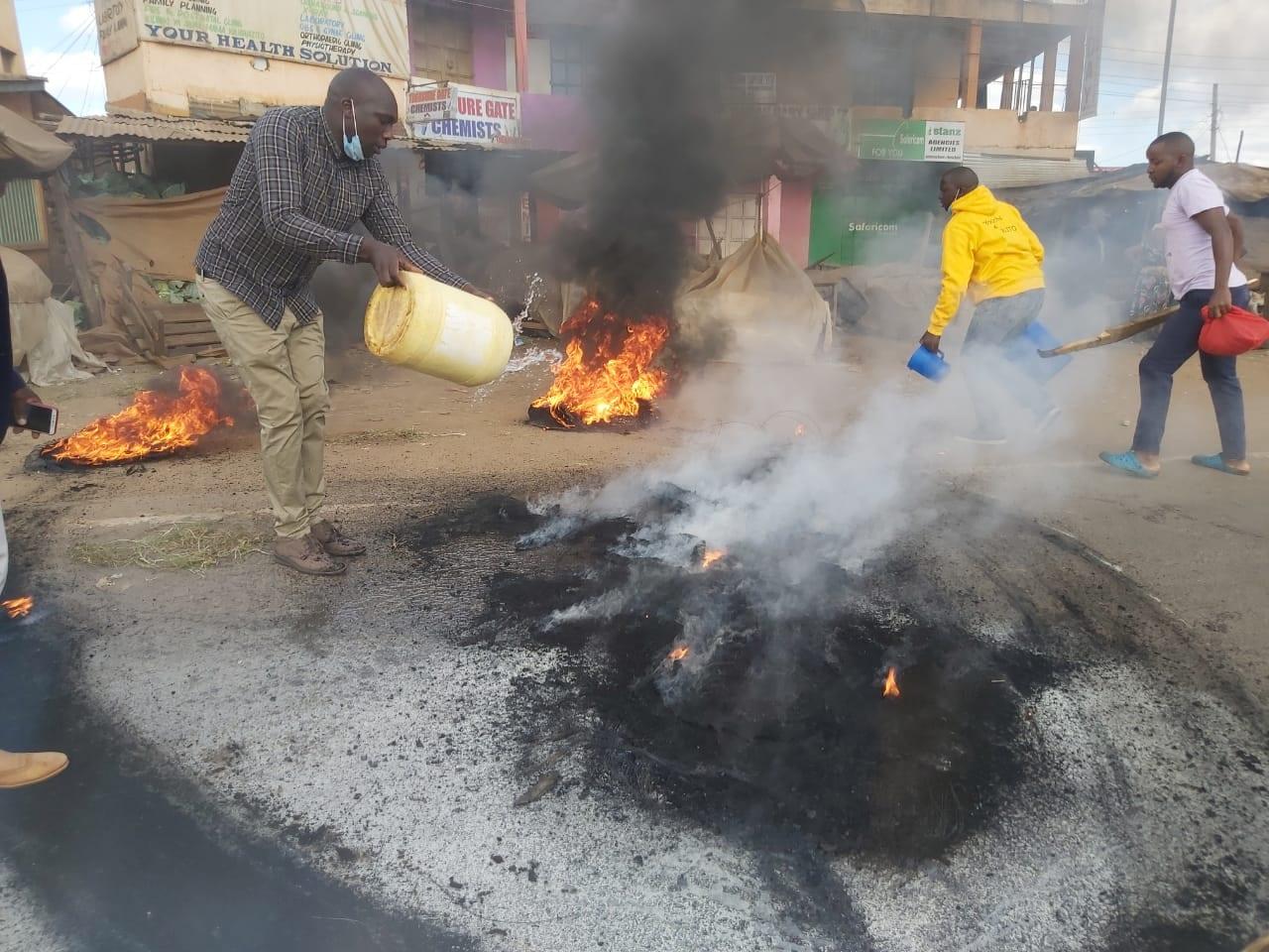 1 dead, several injured as youth barricade Murang'a-Kenol road ahead of DP Ruto's visit