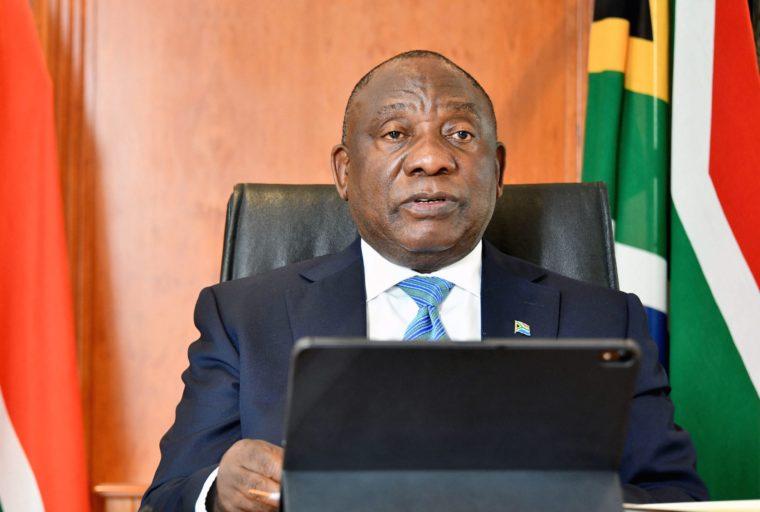 South African President Cyril Ramaphosa on self-quarantine