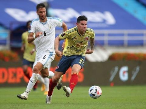 Everton's Rodriguez in Qatar for talks over future