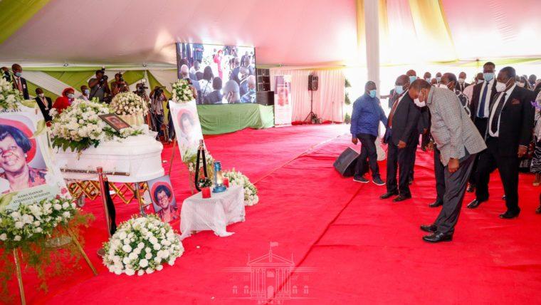 President Kenyatta in Vihiga to bid farewell to Mama Hannah Mudavadi