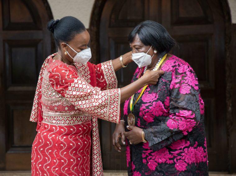 Mama Ngina Kenyatta receives 2019 Macky Sall prize for dialogue in Africa