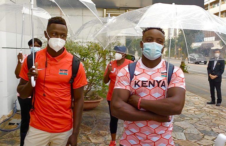 Kenyan speedsters arrive in Kurume City