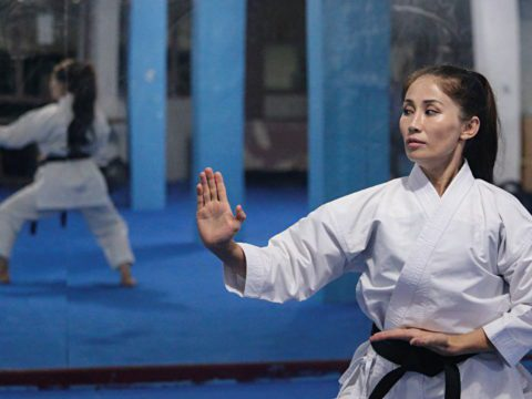 Afghan karate champion fears it's game over for female athletes