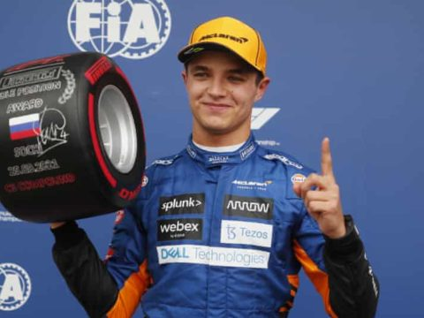 Norris on pole position in Russian Grand Prix