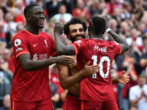 Ton up for Mane as Liverpool sink Palace