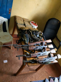 Cops recover four guns, ammo and six stones of bhang during a house raid in Isiolo