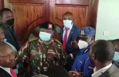 Chaos at Nyandarua County Assembly as MCAs clash after Speaker Wahome denied entry