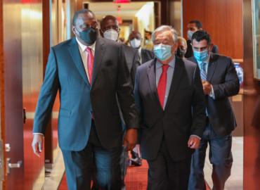 President Kenyatta holds talks with UN Secretary General Antonio Guterres in New York