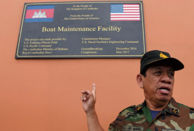 U.S says Cambodia not transparent about Chinese role in naval base construction
