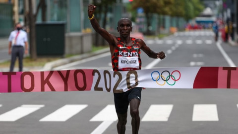 Kipchoge feted in Greece for Olympic performance