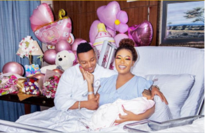 Vera sidika and newborn daughter leave hospital in style
