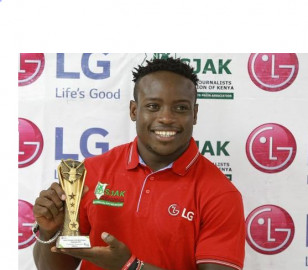 Sprinter ferdinand omanyala receives award