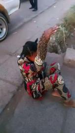 Machakos: Drama as bees swarm around woman's arm