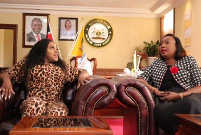 Jamaican reggae artiste Etana visits Acting Nairobi Governor Ann Kananu
