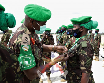 AMISOM honours Kenyan troops for their contribution to peace in Somalia